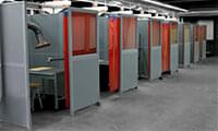 Partitioning and sound insulating wall systems