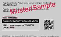 Product registration