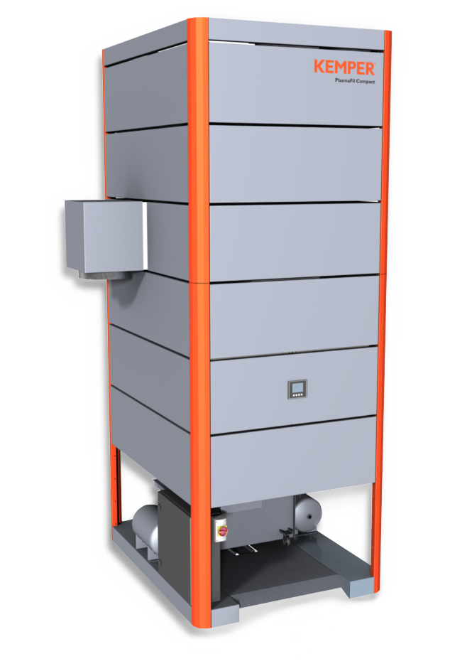 Extraction unit for welding fume and cutting dust