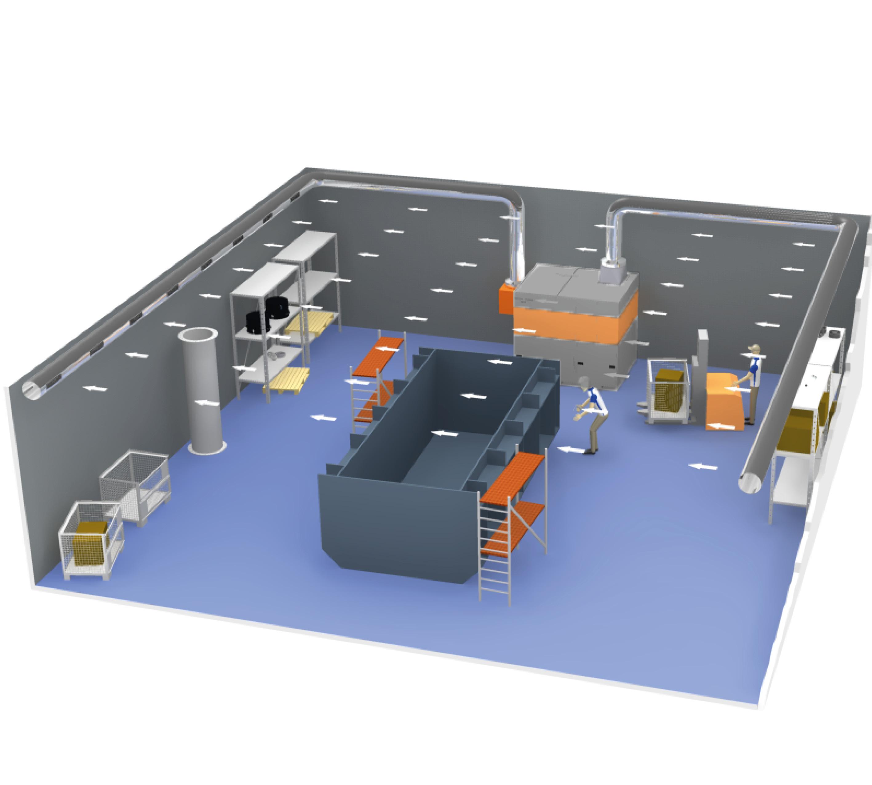 General Ventilation System Push Pull Hall Ventilation