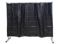 1-Panel Mobile Protective Screen With Curtain