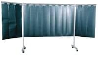 3-Panel Mobile Protective Screen With Strip ...